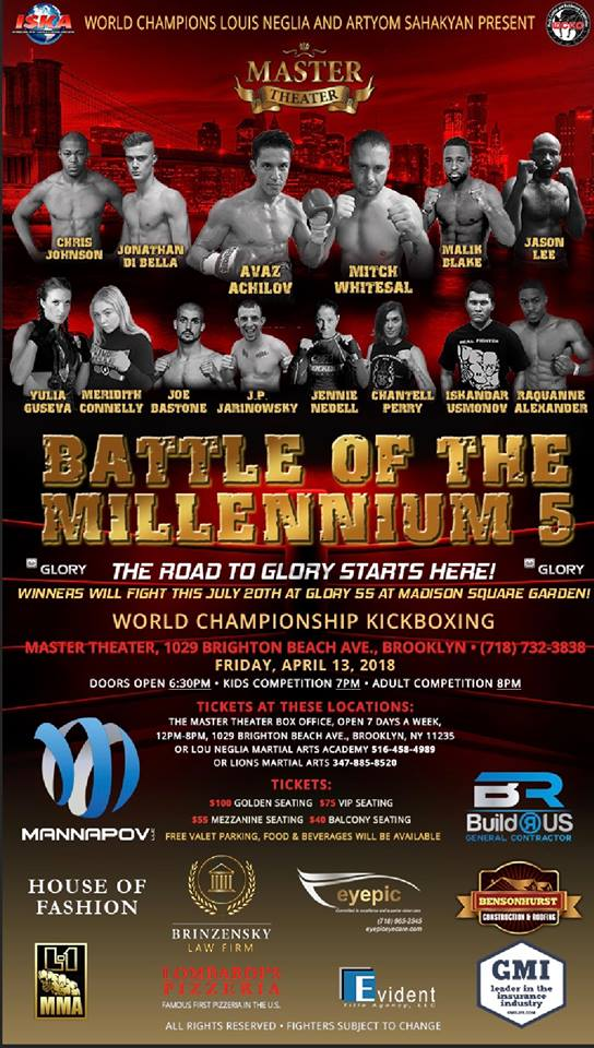 Battle of the Millennium 5 Results - 4/13/18