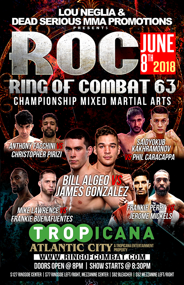 ROC 63 Full Fight Card